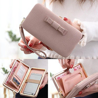 Luxury Fashion Women Wallet Purse Phone Bag Leather Case For IPhone X 8 7 6 6s