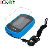 Protect Sky Blue Case Black Detachable Ring Neck Strap Screen Protector For Hiking Handheld GPS Garmin