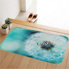 HUADO Coral Fleece Anti-slip Rubber  Door Mats Rugs Light Thin Waterproof Kitchen Bedroom Carpet
