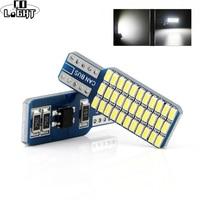 CO ampoules LED T10 168 194 2825 T10 3014 33SMD intérieur de voiture dôme carte lumières DC 12V blanc/bleu/blanc chaud feux arrière de voiture