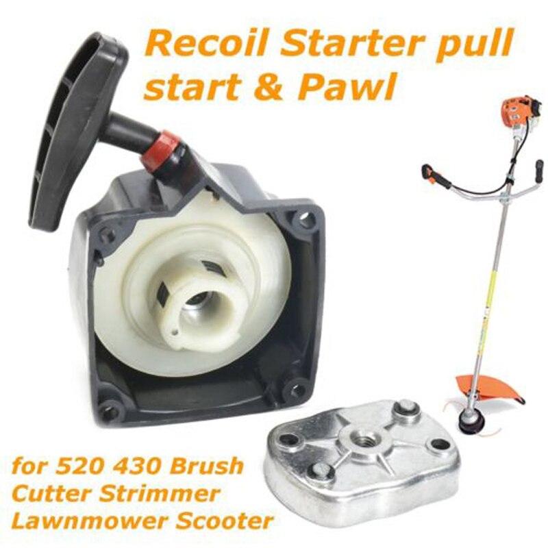 String Trimmer Recoil Starter Pull Easy Start & Pawl For Lawnmower Trimmer Brush Cutter Recoil Starter Parts Garden Tools 43cc 52cc cg430 bc520 brush cutter grass trimmer recoil easy starter assy