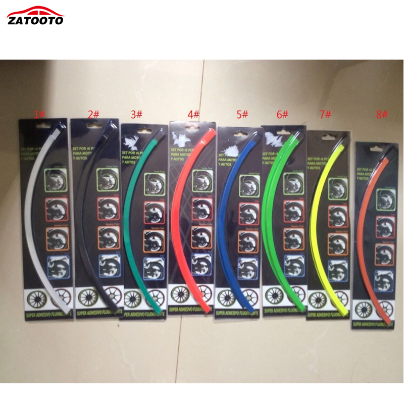 ZATOOTO 30sets lot Wholesale 17 Tire Tyre Rim care protector Hub Wheel Stickers strip for car