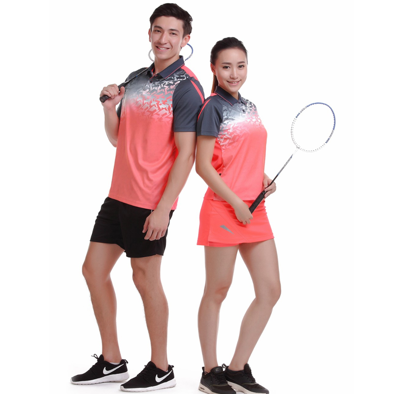 Running Sportswear Quick Dry Breathable Badminton Golf Shirts,Women Men Table Tennis Clothes Team Short Sleeve POLO T Shirts