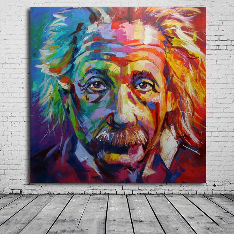 Albert Einstein Art Canvas Print POP ART Giclee Poster