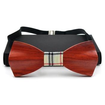 ¡Novedad! pajarita de madera tridimensional GUSLESON para hombre, Pajarita clásica de madera maciza 3D hecha a mano, corbatas Gravata