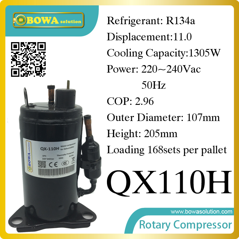 1305W Cooling capacity freezer compressor (R134a) suitable for stainless steel undercounter and kitchen equipments 690w cooling capacity coolant compressor r134a suitable for single door commerce stainless steel display and freezer
