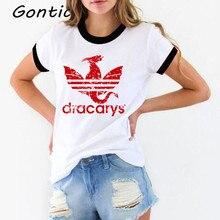 dracarys tshirt women vogue harajuku t-shirt aesthetic camisetas verano mujer 2019 mother of dragon femme tee shirt