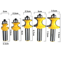 5pcs 1 2 Shank Woodworking Milling Cutter 3 8 5 16 1 4 3 16 1