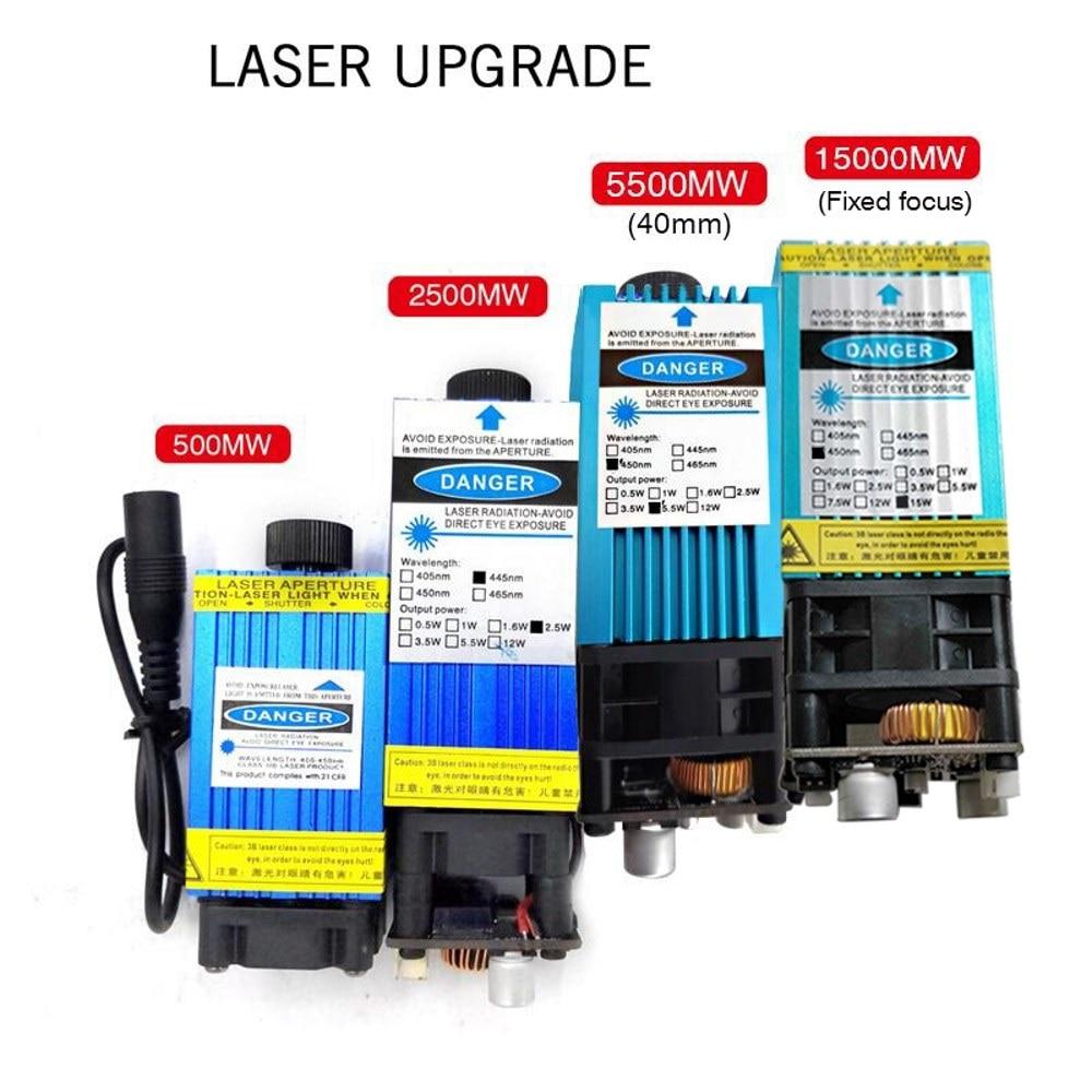 S1 15W Engraving Machine 500mw 2500mw 5500mw 15000mw DIY Laser Head Wood Router Carving Machine PCB Milling Mini Marking Machine