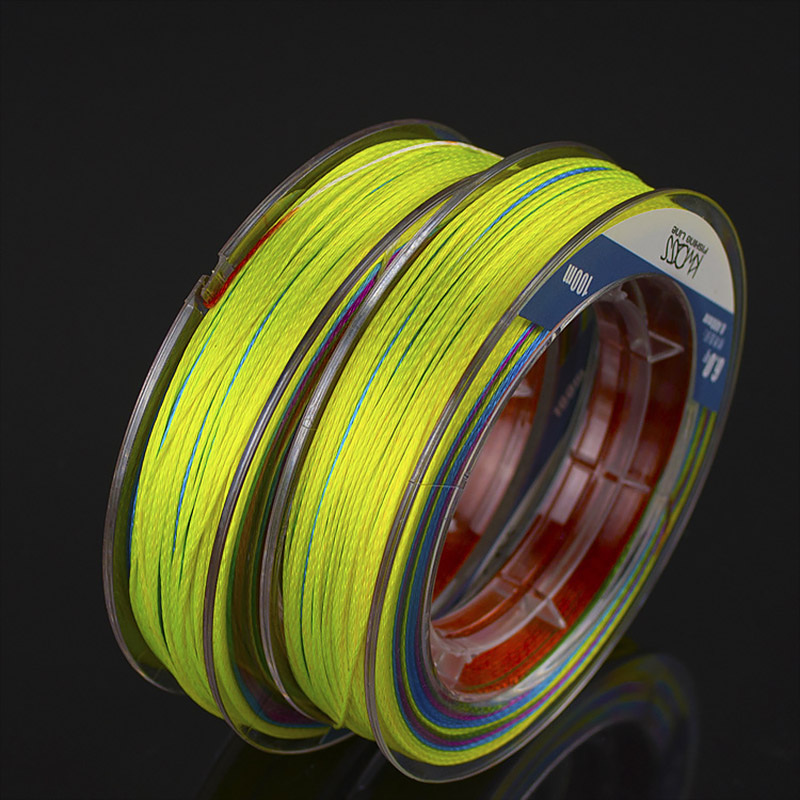 100m PE Fishing Line 9 Strands Braided Fishing Line Multicolor Ultra high Strength Multifilament Fishing Gear Accessory JC-in Fishing Lines from Sports & Entertainment