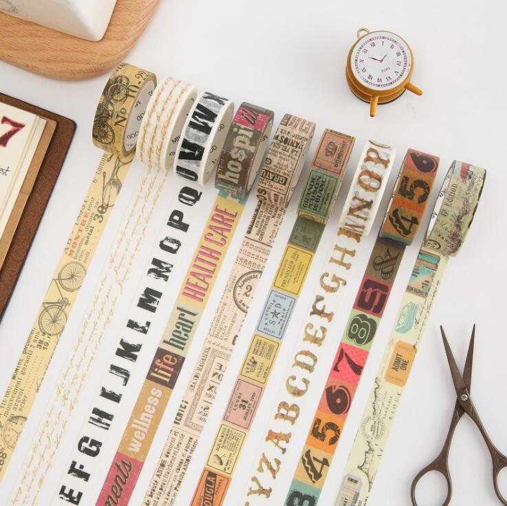 1.5cm Wide Creative Vintage Decorative Washi Tape DIY Scrapbooking Masking Tape School Office Supply 1 5cm wide creative vintage decorative washi tape diy scrapbooking masking tape school office supply
