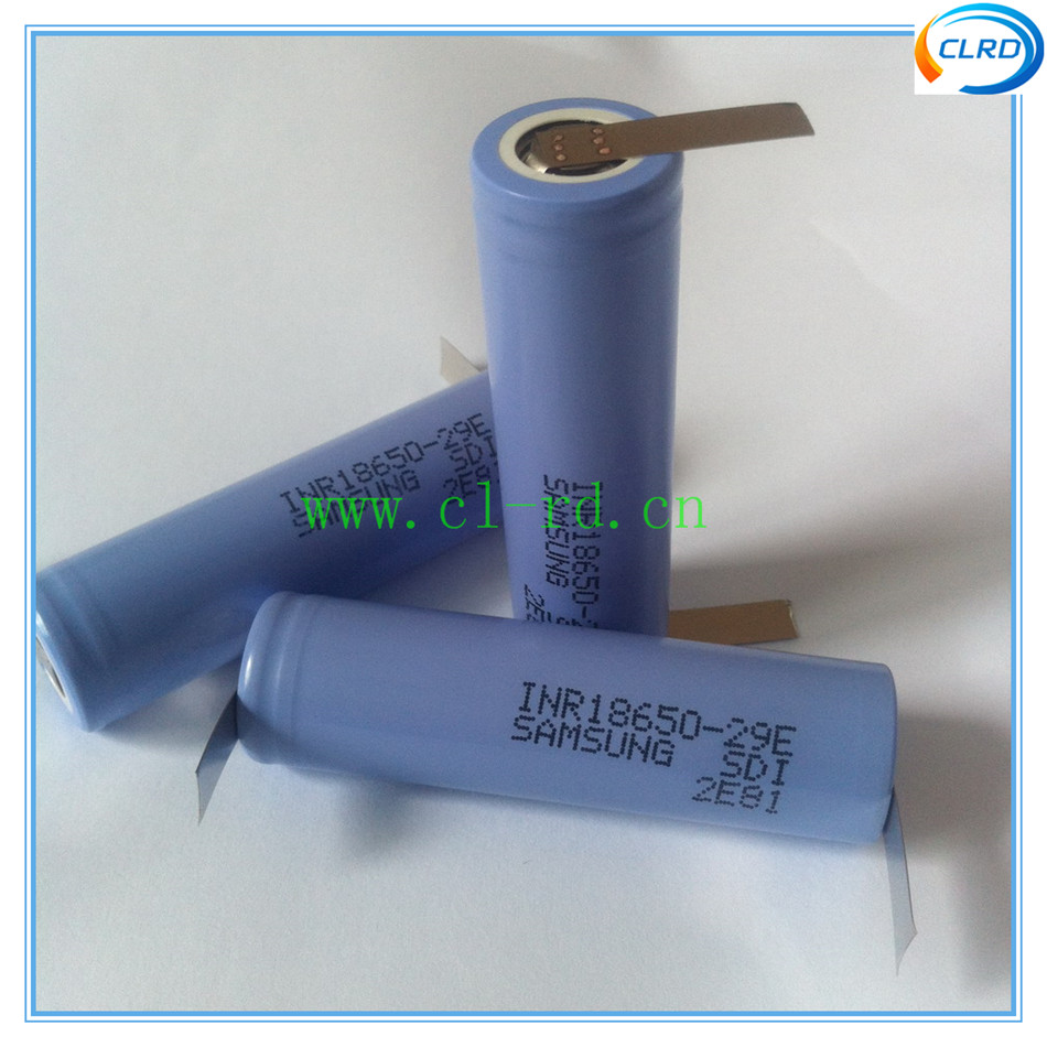 3pcs lot inr18650 29e 2900mah power tool 18650 battery with solder tabs for DIY battery pack