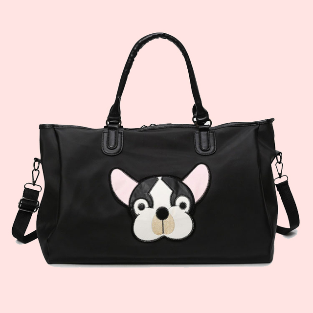 Wobag Fashion Women Waterproof Travel Bag Oxford Dog head Pattern Unisex Travel Duffel Bag New Lady large Capacity Luggage bag