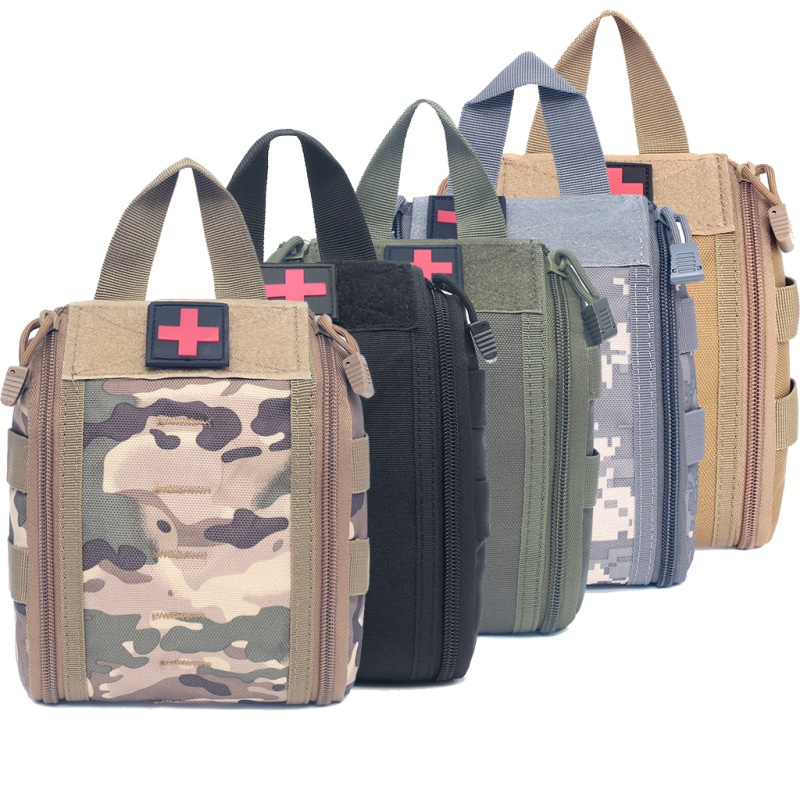 Pouches Outdoor Tactical Molle EDC Hunting Utility Belt Bag Survival Gear Bag First Aid Kit Pouch Medical Kit Pouch Emergency
