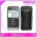 100% e71 original nokia e71 mobile phone 3g wifi gps 5mp remodelado celular desbloqueado e series teclado russa smartphones