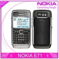 E71 100 Original Nokia E71 Mobile Phone 3G Wifi GPS 5MP Refurbished Cellphone Unlocked E Series