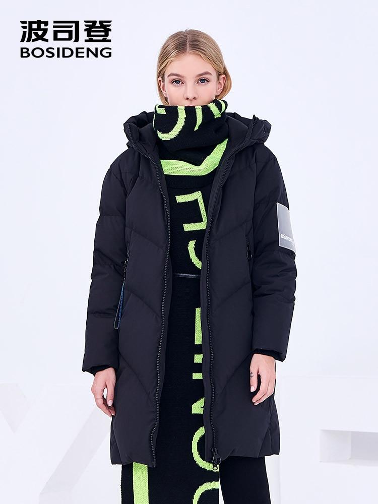 BOSIDENG winter long down coat 90% duck down thicken warm outwear women winter long parka waterproof high quality B80142598DS