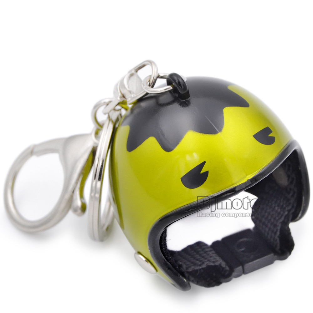 Cool Car Motorcycle Helmet Keychain Key Chains Mini Motorcycle Pendant Keyring Men Women Motorbike Accessories KC-A010 (6)