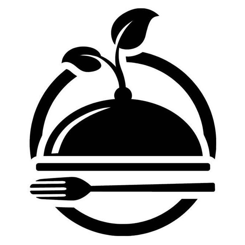 14.4cm*17.5cm Organic Green Foods Car Sticker Vinyl Motorcycle Decal Black/Silver S3-6739