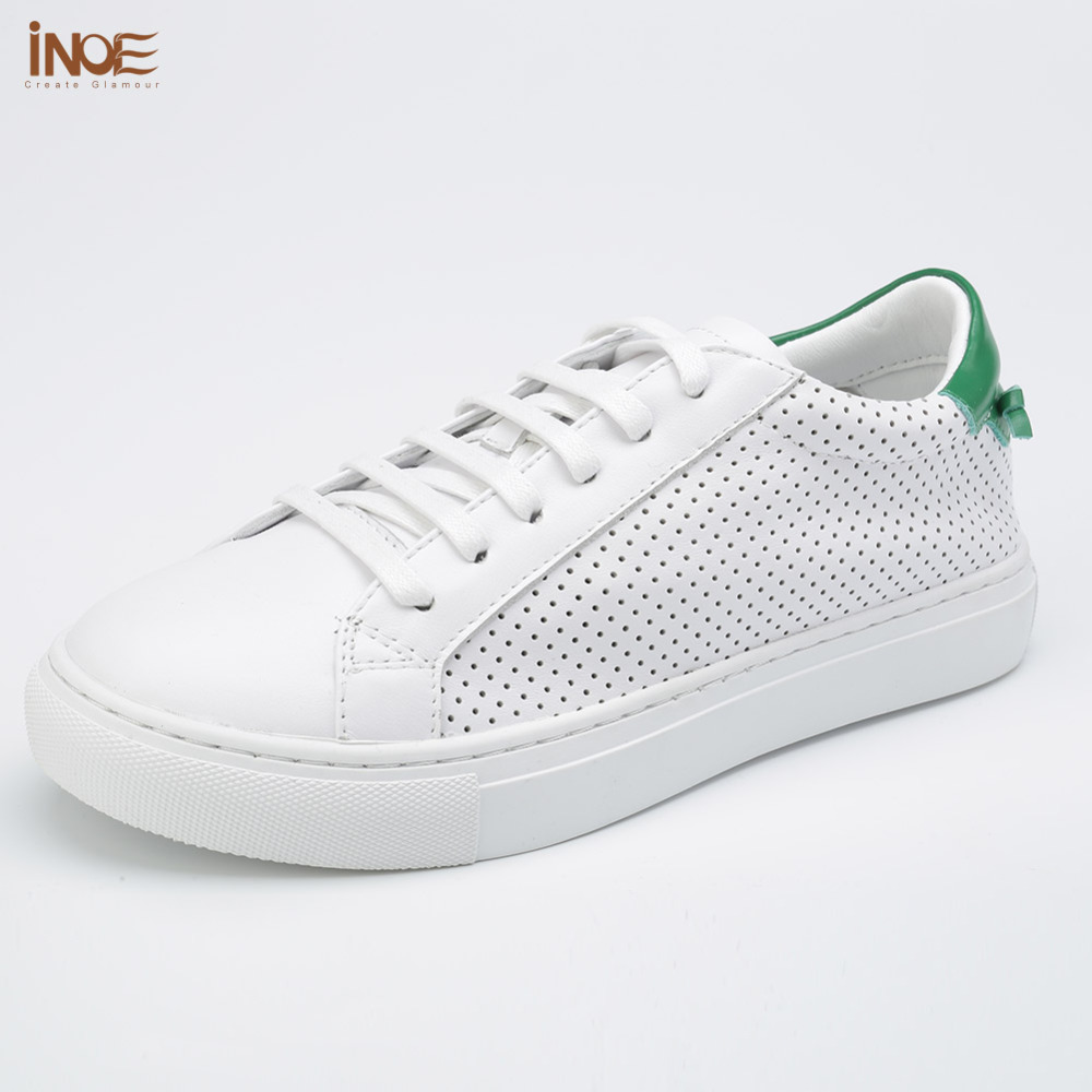 цены INOE 2017 new fashion style real genuine cow leather men summer lace up shoes for man white flats high quality loafers