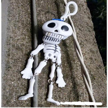 2018 HOT 1piece / lot skeleton  plastic toy horror funny pendant hanging Funny Tricky Toys CHEAP PRICE