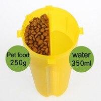 편리한 개 피더 제품 캔디 컬러 식품 물 병 개 여행 그릇 접이식 병 선물 애완 동물 개 고양