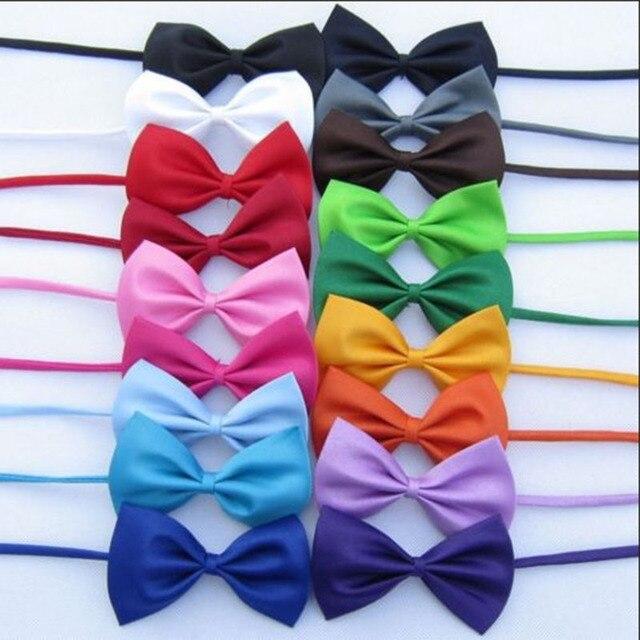 Mix Colors Wholesale Pet Grooming Accessories Rabbit Cat Dog Bow Tie Adjustable Bowtie Multicolor Polyester & Cotton