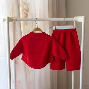 Image 5 - Petit bébé fille vêtements ensemble enfants laine pull 2 pièces hiver automne tenues vêtements dextérieur costume pour filles costume de noël