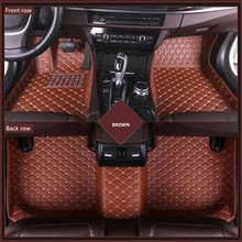 3D Leather Car Floor Mats For W-rangler Four Doors Two 2011-2017 2018-2019 Custom Auto Foot Pad Automobile Carpet Cover