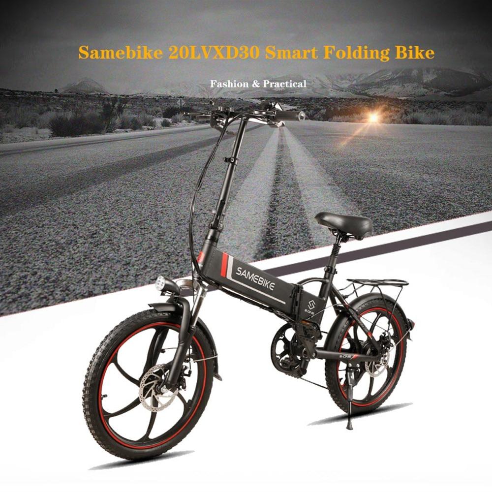 "Samebike 20"" Electric Bike 48V 8Ah Built-In Lithium Battery E Bike Electric Bicycle Folding Powerful Motor Electric Bike"