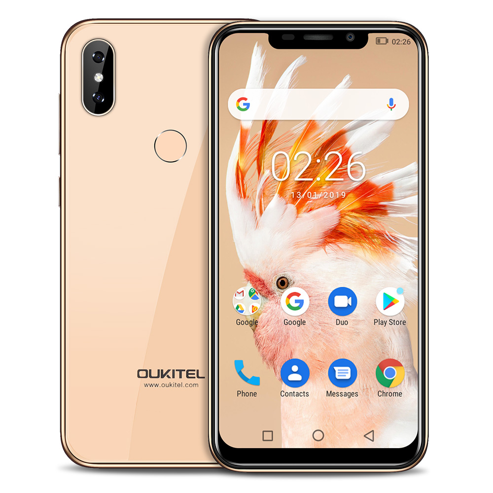 OUKITEL C13 Pro 4G Smartphone 6.18 ''Android 9.0 OS MT6739 Quad Core 1.5 GHz IMG 8XE 1PPC 2 GB RAM 16 GB ROM 3 cames 3000 mAh Mobile