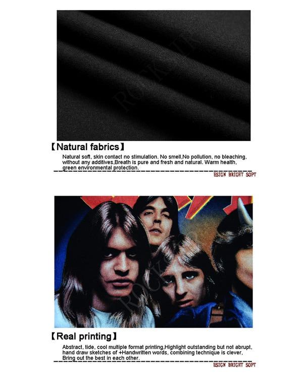 2016 Ny stil Hot sälja 100% bomull O-Neck AC / DC svart kortärmad - Herrkläder - Foto 5