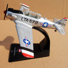 AMER 1/72 Scale Airplane Model Toys USA 1953 LT-6G Texan Fighter Diecast Metal Plane Model Toy For Gift/Collection/Decoration 36cm a380 resin airplane model united arab emirates airlines airbus model emirates airways plane model uae a380 aviation model