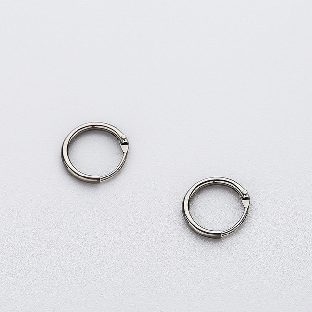 925 Sterling Silver Minimalist Geometric Round Small Hoop Earrings
