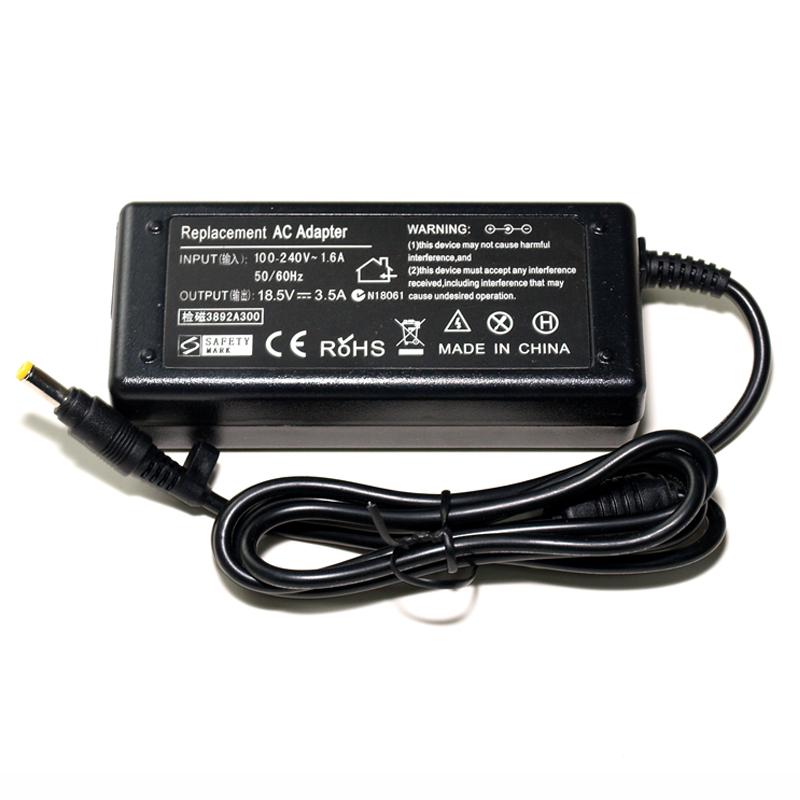 AC Laptop Charger Power Adapter Replacement 18.5V 3.5A 4.8*1.7mm 65W For HP Compaq 6720s 500 510 520 530 540 550 620 625 G3000 lidy pa 1650 02hc 65w 3 5a ac power adapter for hp compaq cq35 cq40 cq45 7 4 x 5 0mm
