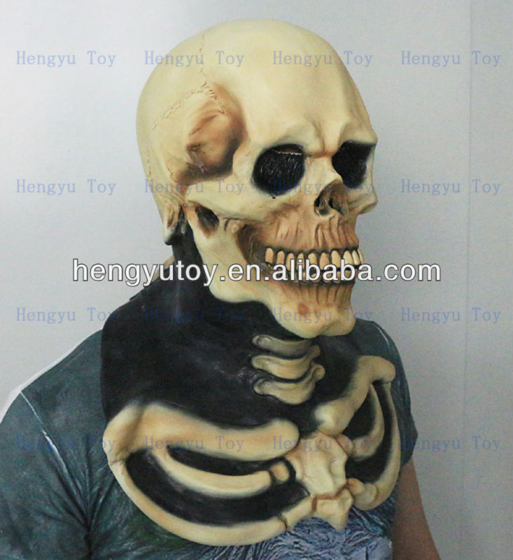 2014 Brand New Top Quality Latex Skull Head Mask for Halloween Night image