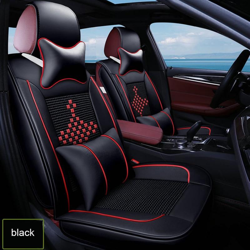 Housses de siège de voiture en soie glacée pour mitsubishi outlander xl lancer pajero sport EX Zinger FORTIS accessoires auto protecteur de siège de voiture