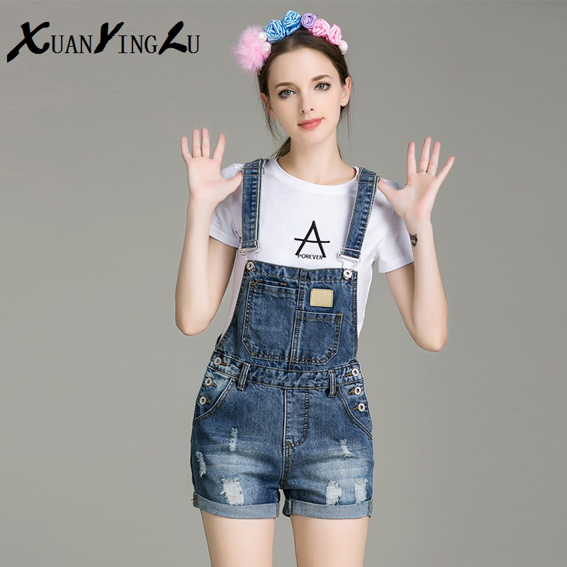 ФОТО Hot Sale! Women Jeans 2016 New Summer Jeans European high-end fashion star brand Slim straps wild denim shorts