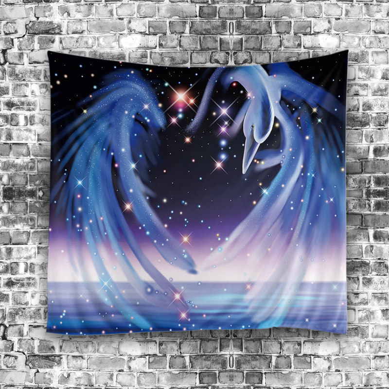 17New Fantasy Cartoon Elegant Scenic Tapestry Home Dekorativ tapestry - Hemtextil
