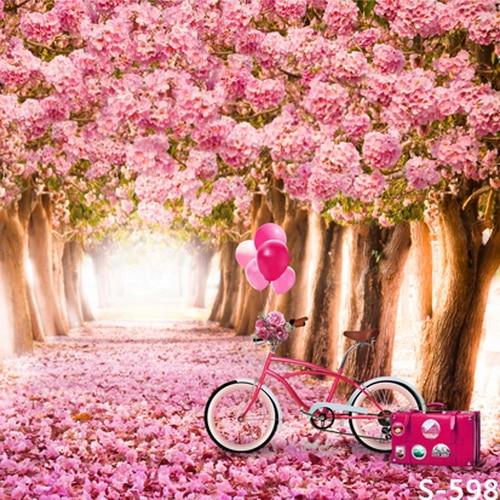 Wedding Flower Background: 8x8FT Custom Photography Background Studio Backdrop Pink