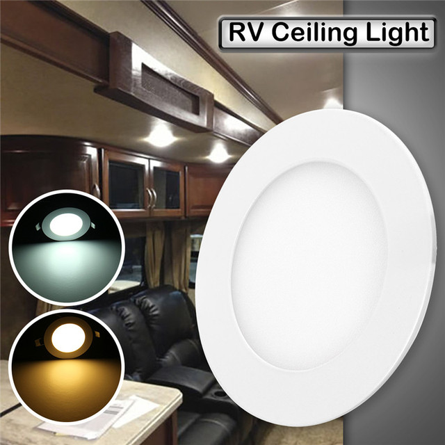 12v 4 75 inch rv trailer led roof dome light 6w car boat interior