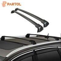 Partol 1 Pair Black Side Rails Car Roof Rack Cross Bars Crossbars for Honda CRV 2012 2016 132 LBS 60KG Mounted On Car Rooftop