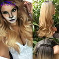 Black to blonde two tone Ombre Synthetic Hair Wigs For Black Women ombre body wave Heat Resistant Freetress Hair Synthetic Wig