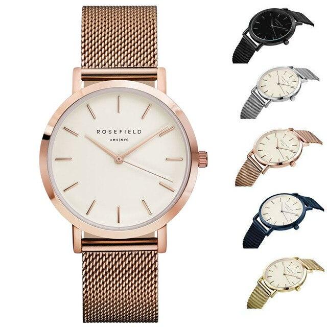 Brand Mode Dames Luxe Quartz Horloges Vrouwen Beroemde Merk Horloges minimalistische ontwerp ultradunne waterdicht