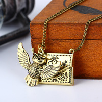 Harley Baud Admission Notice Envelope Owl Necklace European Movies Periphery Pendeloque Cut Small Gift MSK221 shouzh jewelry