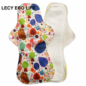 Image 4 - Free shipping 5pcs Reusable Waterproof Oganic Bamboo heavy flow Cloth Sanitary Pads Menstrual Pads Cloth Pads Wholesale Selling
