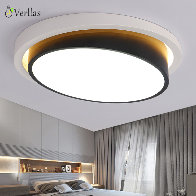 Modern led Ceiling Lights for Living room Bedroom Creative home decoration lighting fixture Luminarine Ceiling Lamp Round black new modern led ceiling lights for living room bedroom plafon home lighting combination white and black home deco ceiling lamp