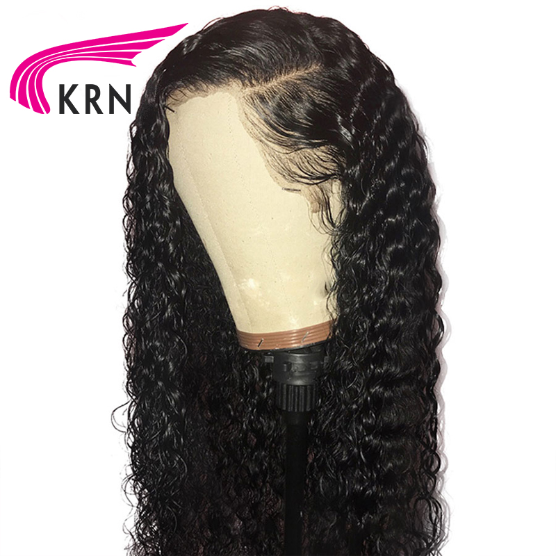 Transparen Lace 130 Density Curly Lace Front Human Hair Wigs With Baby Hair Remy Brazilian Wigs