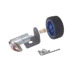 Image 4 - Dc 6V 12V 24V 12 1360 Rpm Mini Encoder Reductiemotor Met Koppeling 65Mm Wiel smart Tracking Line Smart Car Kit