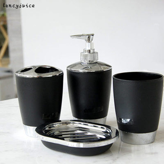 White black bathroom set toothbrush dispenser holder banheiro ...